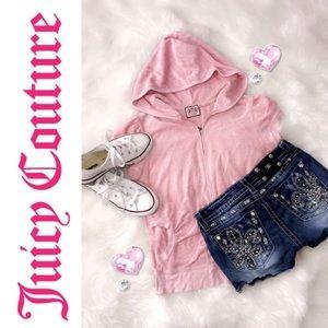 🌸 💯Auth Juicy Couture summer S/S Zip front top